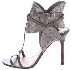 Camilla Skovgaard Embossed Ankle-Strap Sandals