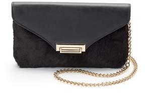 La Regale Lenore By Lenore by Faux-Fur Flap Crossbody Bag