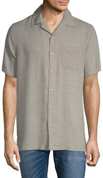Saks Fifth Avenue BLACK Men's Short-Sleeve Camp Button-Down Shirt