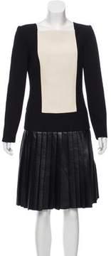 Fausto Puglisi Wool Knee-Length Dress