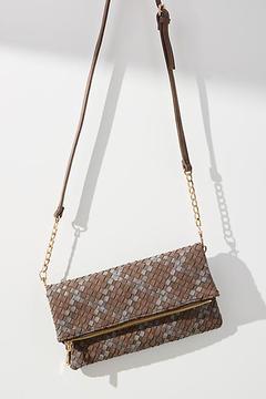 Anthropologie Woven Delaney Foldover Bag