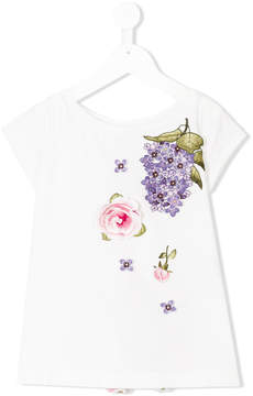 MonnaLisa Chic floral embroidered T-shirt