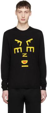 Fendi Black Faces Sweater