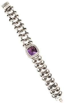 David Yurman Amethyst & Diamond Albion Bracelet