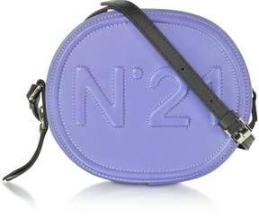 N°21 Liliac Leather Oval Crossbody Bag w/Embossed Logo
