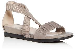 Eileen Fisher Women's Dylan Metallic Suede Demi Wedge Sandals