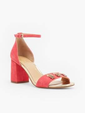 Talbots Bettie Jewel-Embellished Suede Sandals