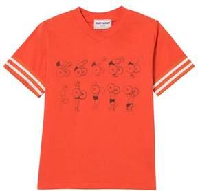 Bobo Choses Red Clay Weightlifting V-Neck T-Shirt