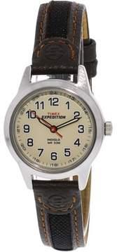 Timex Women's Field T41181 White Leather Quartz Fashion Watch