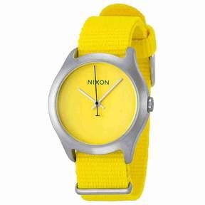 Nixon Mod Yellow Dial Yellow Nylon Strap Men's Watch A3481599