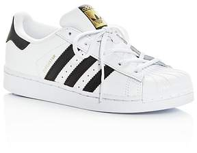 adidas Unisex Superstar Lace Up Sneakers - Toddler, Little Kid