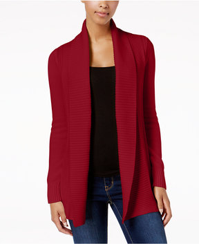 Charter Club Stitched Open-Front Completer Cardigan, Created for Macy's