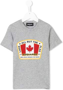 DSQUARED2 maple logo printed T-shirt