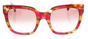 Max Mara Tortoiseshell Oversize Sunglasses