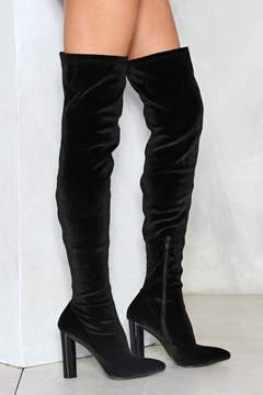 Nasty Gal nastygal You'll Pull Through Thigh-High Boot