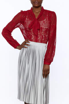 Ark & Co Red Lace Blouse