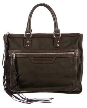 MZ Wallace Leather-Trimmed Frankie Bedford Satchel