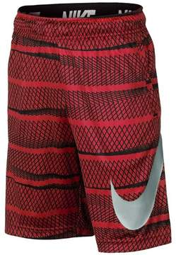 Nike Big Boys' (8-20) Dri-Fit Allover Print Fly Training Shorts-Gym Red