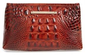 Brahmin Marney Croc Embossed Zip Pouch - Brown