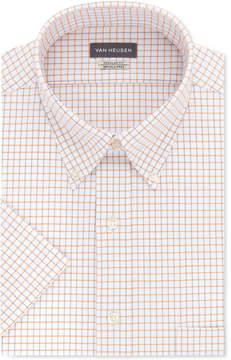 Van Heusen Men's Classic-Fit Flex Collar Check Short Sleeve Dress Shirt