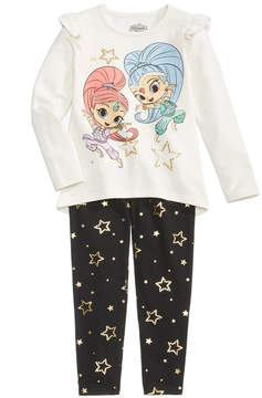 Nickelodeon 2-Pc. Shimmer & Shine Long-Sleeve T-Shirt & Leggings Set, Little Girls (4-6X)