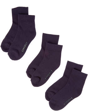 Gymboree Navy Three-Pair Quarter-Top Socks Set - Infant