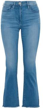 3x1 Frayed Faded Mid-Rise Flared Jeans
