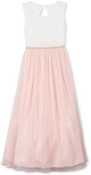 Speechless Imitation-Pearl Trim Maxi Dress, Big Girls (7-16)