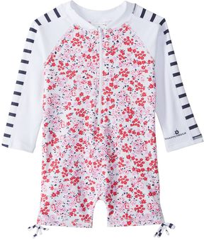 Snapper Rock Girls' Watercolor Hearts L/S One Piece Sunsuit (0mos2T) - 8155090
