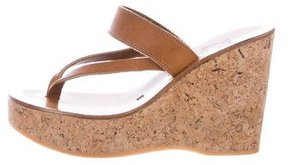 K Jacques St Tropez Saturnin Thong Wedge Sandals