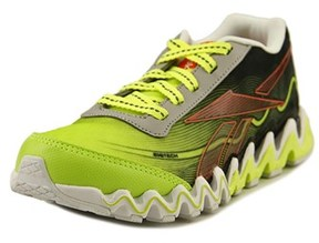Reebok Zigultra Youth Round Toe Canvas Green Running Shoe.