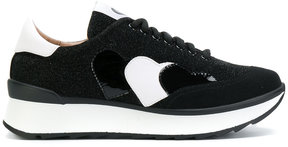 Twin-Set contrast lace-up sneakers
