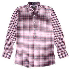 Nordstrom Boy's Dot Gingham Sport Shirt