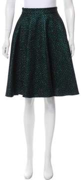 Markus Lupfer Metallic-Accented Knee-Length Skirt w/ Tags