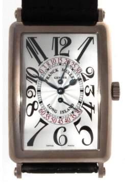Franck Muller Long Island 18K White Gold Watch Jumping Second Hand Unisex Watch