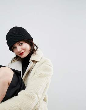 Asos Boyfriend Knit Beanie With Double Turn Up