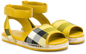 Burberry checked sandals