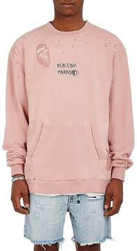 Ksubi Men's Placebo Paradise Distressed Cotton French Terry Sweatshirt