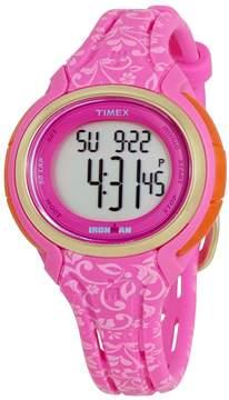 Timex Ironman Ladies Pink Floral Resin Digital Watch