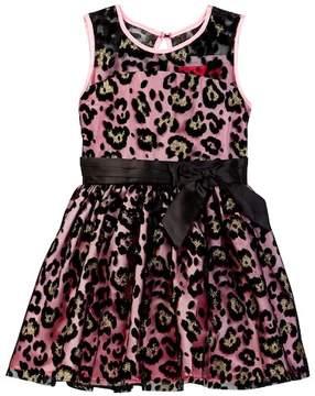 Betsey Johnson Flocked Illusion Dress (Toddler Girls)