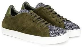 Hogan glittered captoe sneakers
