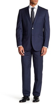 English Laundry Trim Fit Navy Pinstripe Two Button Notch Lapel Wool Suit