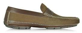 Moreschi Men's Brown Leather Loafers.