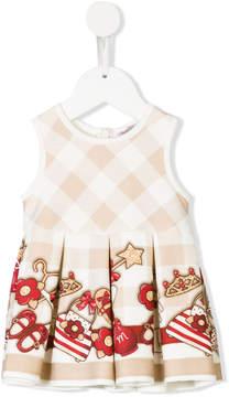 MonnaLisa printed pleated dress