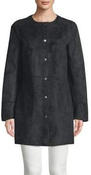 Ellen Tracy Petite Snap Suede Jacket
