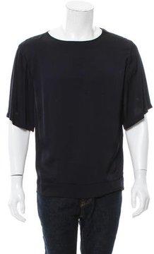 Dries Van Noten Satin Zip T-Shirt