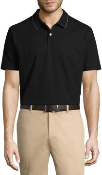 Dockers Easy Care Short Sleeve Stripe Knit Polo Shirt