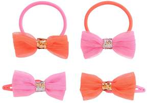 Osh Kosh Toddler Girl 4-pk. Tulle Bow Ponytail Holders & Barrettes