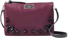 Kate Spade Deep Plum Wilson Road Embellished Madelyne Crossbody Bag