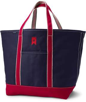 Lands' End Lands'end Extra Large Two-Tone Open Top Canvas Tote Bag
